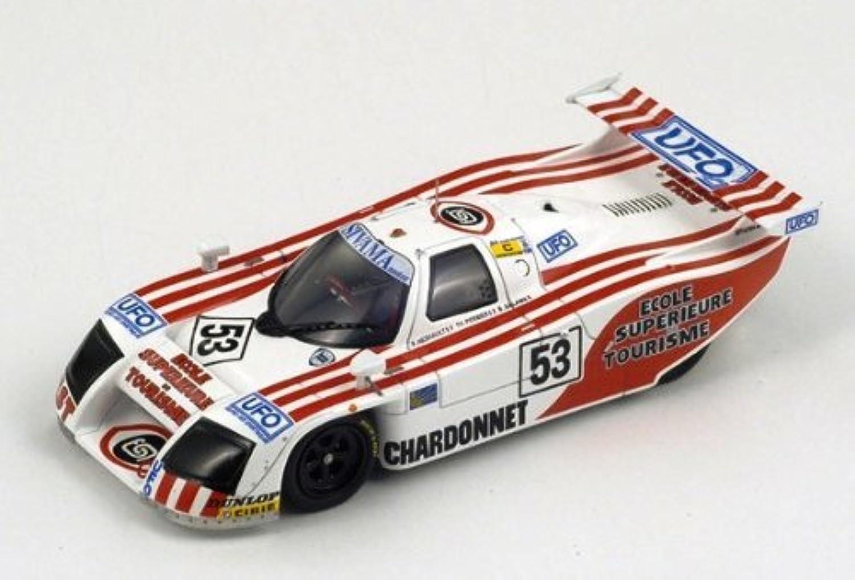 ランチアlc1、NO。53 , Le Mans 1983 F Hesnault – T Perrier – B。Salam DiecastモデルCar In 1 : 43スケールby Spark