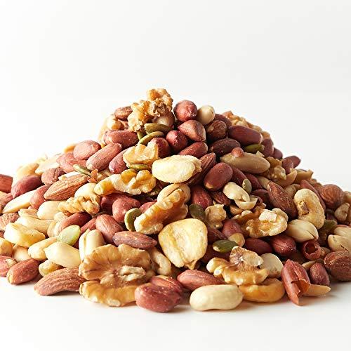 うす塩 ミックスナッツ 6種 (薄皮ピーナッツ、アーモンド、くるみ、ジャイアントコーン、かぼちゃの種、バターピーナッツ) (1kg)
