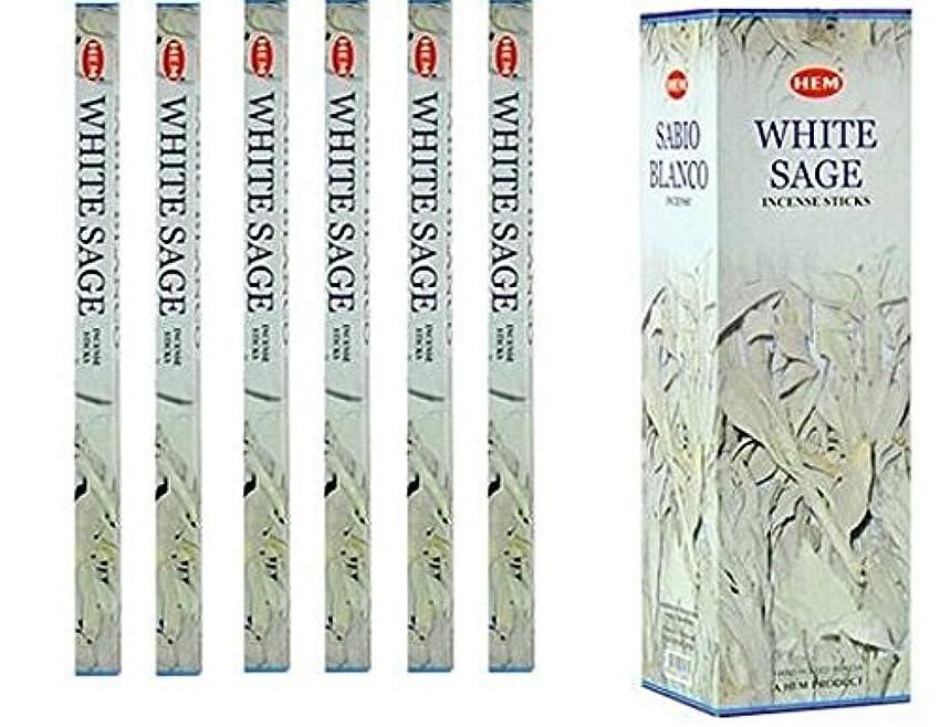 手荷物軽蔑船外インドHemホワイトセージ香6パックX 8スティック、Wicca Pagan 8 Gm正方形ボックス