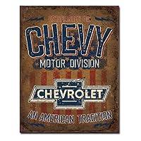 メタルサイン 「Chevy - American Tradition」# 2204 シェビー シボレー 縦40.5×横31.7cm [並行輸入品]