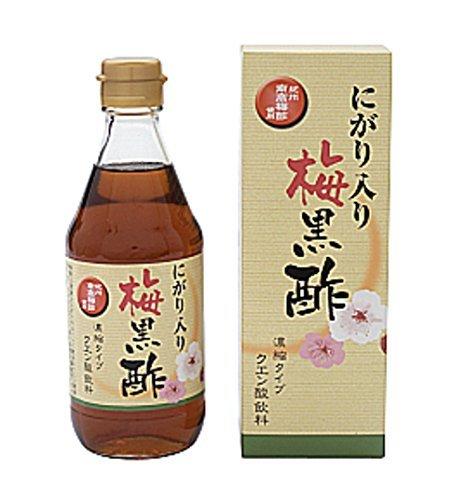 赤穂化成 にがり入り梅黒酢(360ml×12本)5倍濃縮タイプ 水で割って飲むタイプの健康酢!