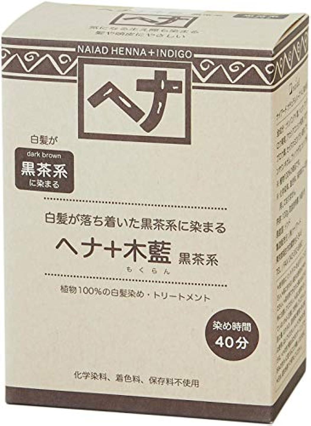 遺産荒涼とした雑種Naiad(ナイアード) ヘナ+木藍 黒茶系 100g