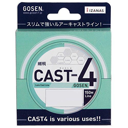ゴーセン(GOSEN) PEライン キャスト4 150m 0.4号 10lb(4.5kg) コーラルオレンジ GL41504