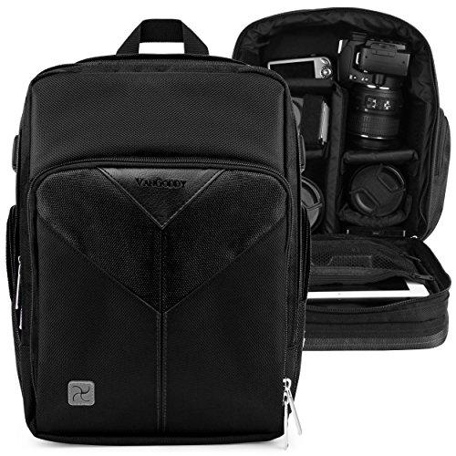 VanGoddy Spartaコンパクトバックパックデジタル一眼レフカメラ&タブレットケースバッグfor Canon 7d Mark II 2、Rebel EOS t5i、t4i、t2i, t1i, PowerShot g3?X DSLR Camera ブ