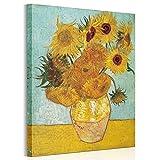 ポスター ゴッホ ひまわり アートパネル 印象派油絵 壁掛け 絵画 壁キャンバス 横60cm*縦75cm