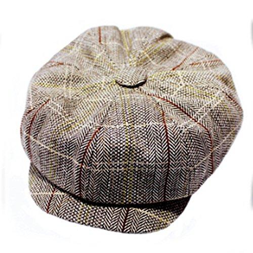 MMRM クラシック イングランドスタイル ストライプ八角帽...