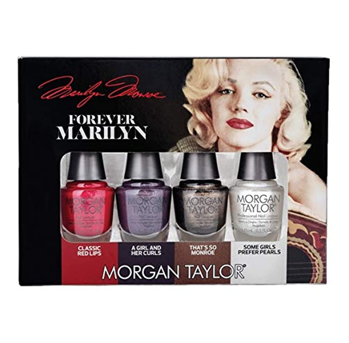 だます溶かす退屈させるMorgan Taylor Nail Lacquer - Forever Marilyn Fall 2019 Collection - Mini 4 Pack - 5ml / 0.17oz Each
