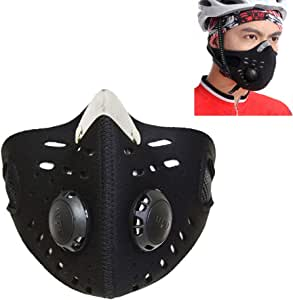 TKbideフェイスマスク 防寒 フェイスカバー リースマスク 防塵 自転車用 バイク用 アウトドア用 花粉症対策 通気性 男女兼用