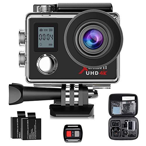 アクションカメラ 4K スポーツカメラ 1080P Campark 2インチ 170度広角 30M防水WiFi搭載 電池*2 【12ヶ月保証】