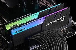 G.Skill ジースキル デスクトップPC用 メモリ DDR4-2400(PC4-19200) Trident Z RGB シリーズ F4-2400C15D-16GTZR 16GB(8GB×2) 永久保証 Intel XMP 2.0 (Extreme Memory Profile) Ready