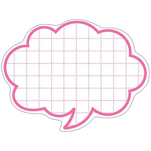 タカ印 POP カード 16-4155 抜型カード 吹出し 中 50枚 ピンク