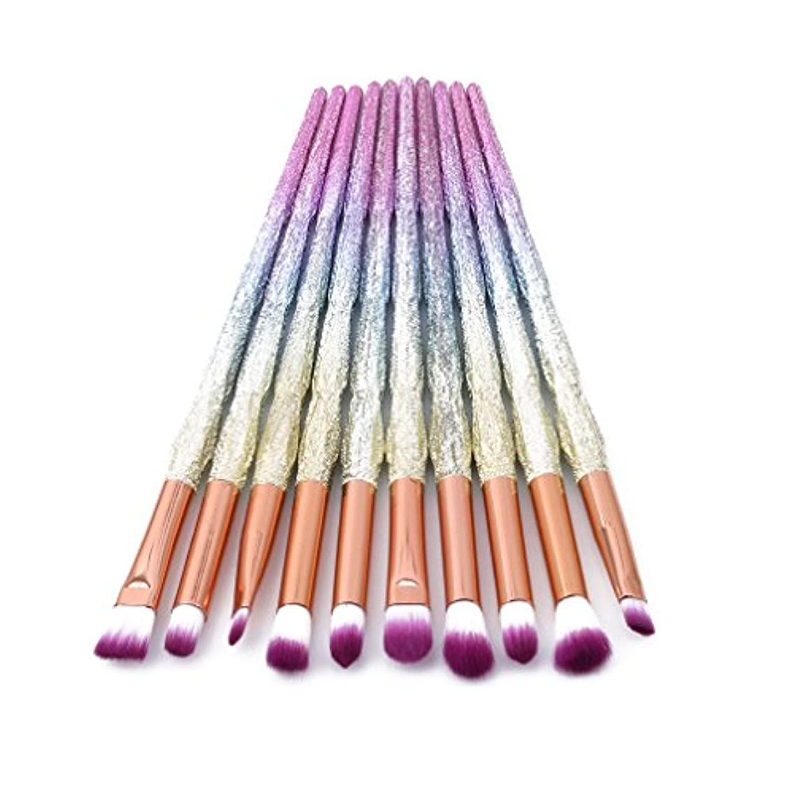 配管原稿走るHonel メイクブラシ 化粧筆 アイシャドウブラシ 10本セット