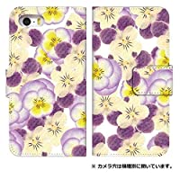 スマホケース 手帳型 sc-02f ケース 5028-D. 白紫花 sc-02f カバー 手帳型 [GALAXY J SC-02F] ギャラクシー ジェイ