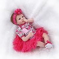 22インチRebornベビー人形ソフトSiliconeビニールリアルなハンドメイド新生児Real Lifeベビー人形