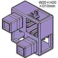 アーテックブロック部品 ハーフB 8ピース 薄紫