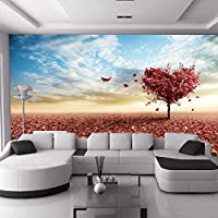 Sproud 大規模な 3 D 風景の壁画のシームレスなリビングルームの Tv の寝室の壁紙の壁紙 Sweet Love ツリー 250 Cmx 175 Cm