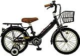 JEFFERYS(ジェフリーズ) 自転車 子供用 16インチ ロンドンタクシー 補助輪 バスケット 標準装備 JP8685 ブラック 16インチ