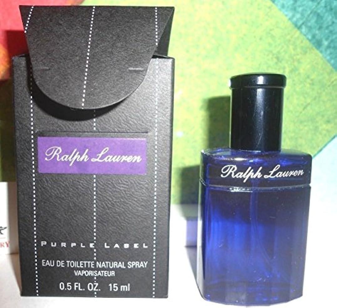 封建宣教師油Ralph Lauren Purple Label (ラルフローレン パープルラベル) 0.5 oz (15ml/トラベルサイズ) EDT Spray (箱なし) for Men
