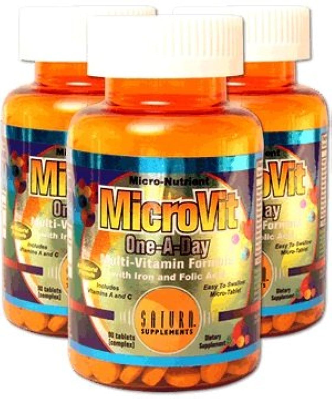 Micro Vit/90Tablets2 Bottles Set_ 2本セット 【サターンサプリメント?メーカー/アメリカから直接発送】 マイクロビット 90錠