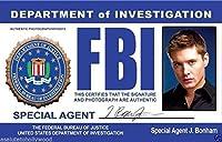 FBI Special Undercover Agent J. Bonham Jensen Ackles (Dean Winchester) Novelty Drivers License / Fake I.d. Identification for Supernatural Fans by Signs4Fun [並行輸入品]