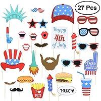 BESTOYARD アメリカ独立記念日パーティーデコレーションフォトプロップ 27個
