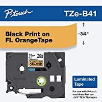 Brother Laminated Black on fluorescent Orange 3/4 Inch Tape - Retail Packaging (TZeB41) - Retail Packaging by Brother Printer [並行輸入品]