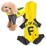 犬猫の服 full of vigor ドッグプレイ(R) fullロゴレインコートつなぎ 2018年モデル ダックス用 カラー 8 イエロー サイズ DML オールインワン フルオブビガー
