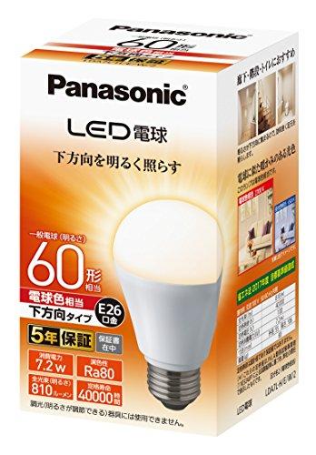 パナソニック LED電球 口金直径26mm 電球60形相当 ...