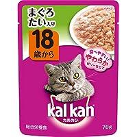 カルカン パウチ 高齢猫用 18歳から まぐろ たい入り 70g×160袋 (ケース販売) [キャットフード]