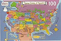 USA Map Puzzle-100 Pieces by Map of the US Puzzle [並行輸入品]