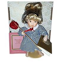 Franklin Mint家宝Days of the Week Dolls木曜日の子by Sylvia Natterer