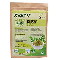 SVATV Organic Moringa Powder(Moringa Oleifera Leaf Powder) 1/2 LB, 08 oz, 227g USDA Certified Organic- Biodegradable Resealable Zip Lock Pouch