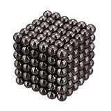 YM強力磁石の立体パズル!マグネットボール216個セット シルバー (グレー)