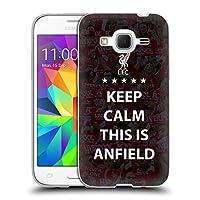 オフィシャル Liverpool Football Club Keep Calm ブラック This Is Anfield Samsung Galaxy Core Prime 専用ソフトジェルケース