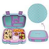 Bentgo Kids Prints (Mermaid Scales) - Leak-Proof, 5-Compartment Bento-Style Kids Lunch Box - Ideal Portion Sizes for Ages 3 t