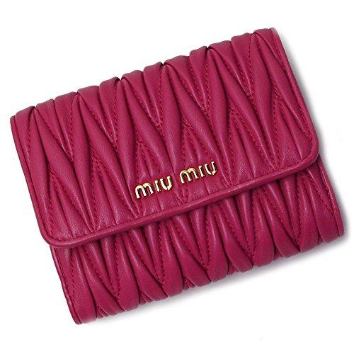 ミュウミュウ miumiu 財布 レディース 折財布 二つ折り財布 MATELASSE 5MH523 PEONIA ピンク [並行輸入品]