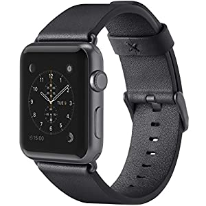 belkin Apple Watch用(シリーズ1,2,3,4)レザーバンド 38mm イタリアンレザー 牛革 ブラック [国内正規品] F8W731BTC00-A