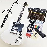 エレキギター初心者 BSG-STD WH SGタイプ入門セット VOXアンプ付13点セット