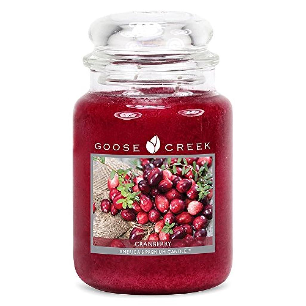 削る海上六分儀Goose Creek ES26397 24 oz Essential Cranberry Jar Candle