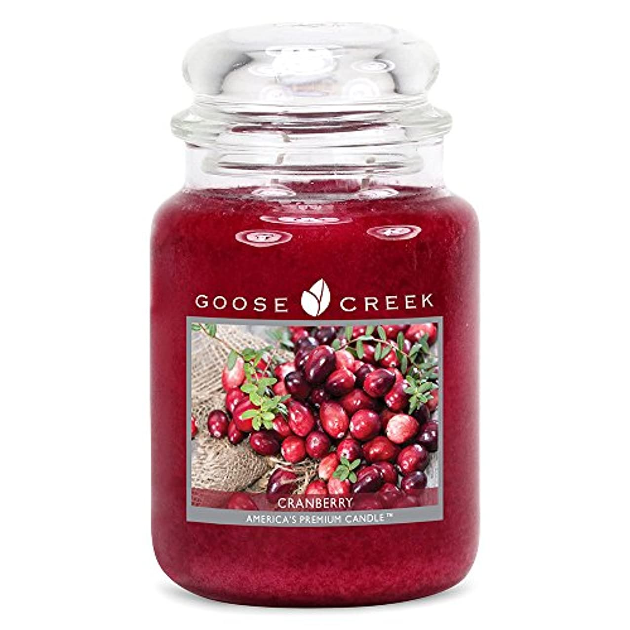 道を作る特異性心理的にGoose Creek ES26397 24 oz Essential Cranberry Jar Candle