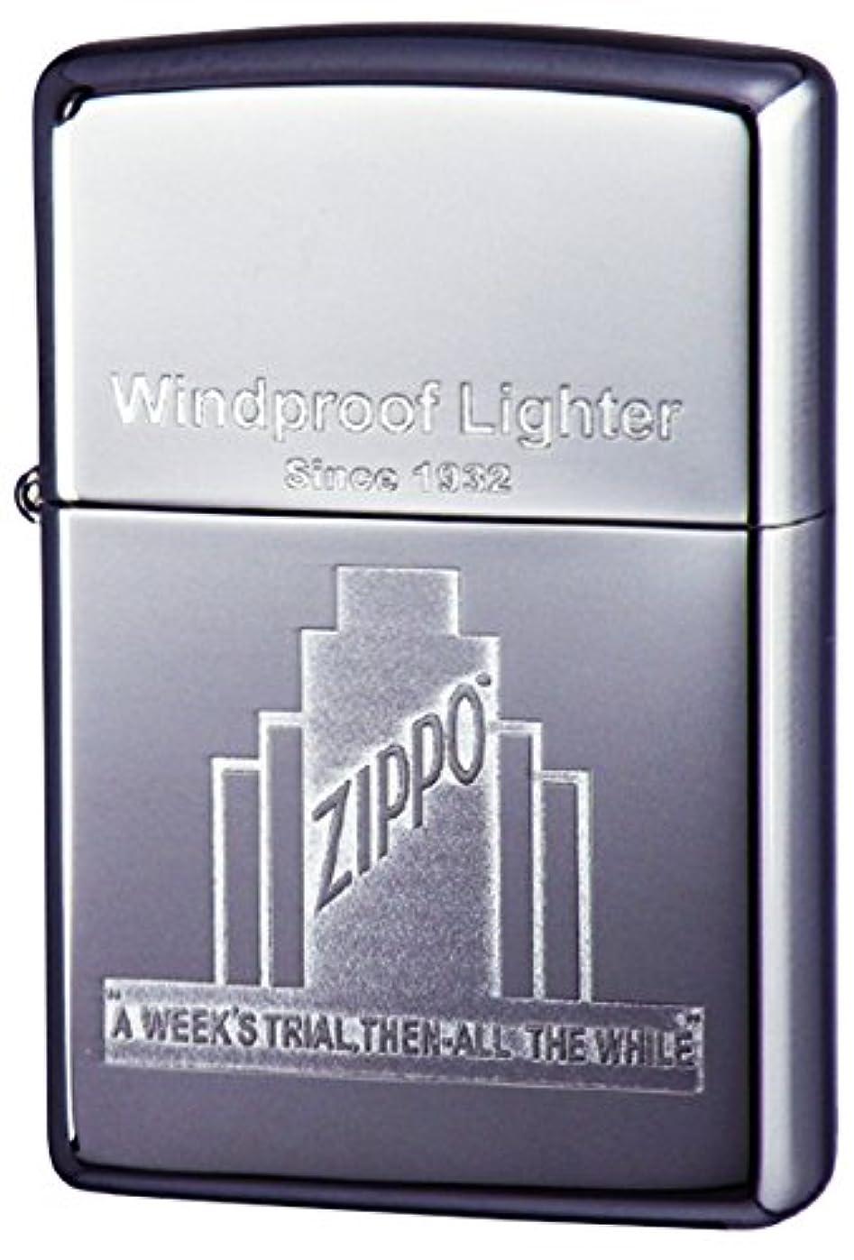 ロバ持っている前提ZIPPO(ジッポー) ライター ジッポー社ビル ロゴ クローム ポリッシュ
