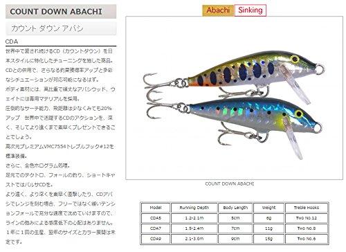 ラパラ カウントダウンアバシ 9cm 15g ホログラムブルー COUNT DOWN ABACHI CDA9-HB