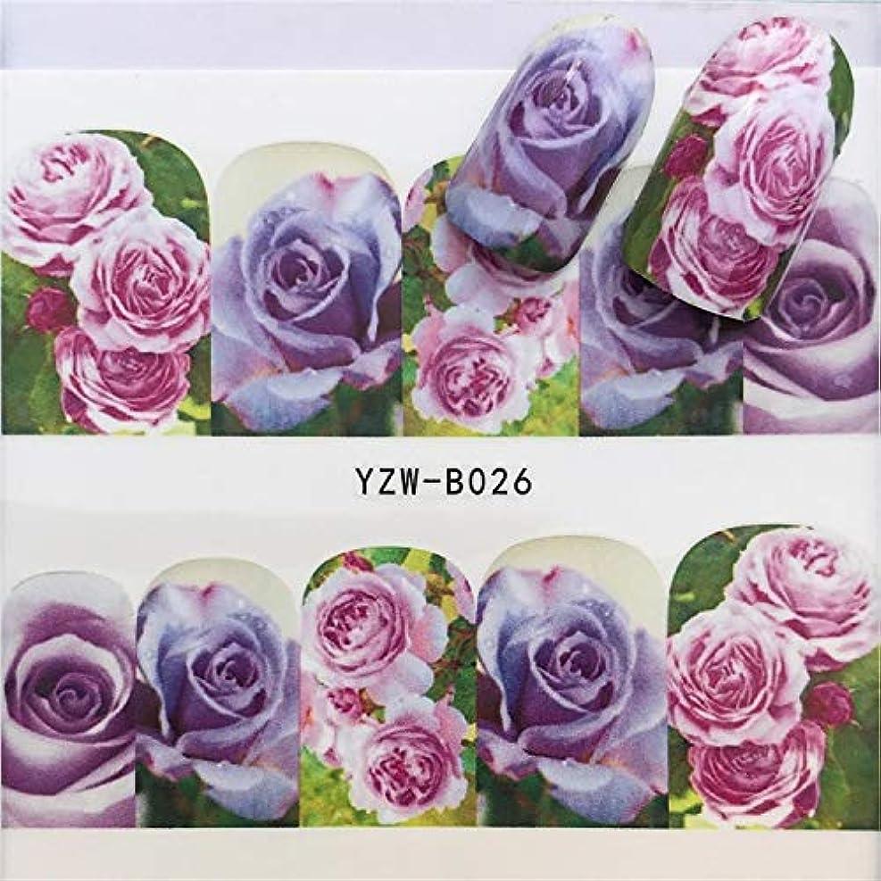 手足ビューティーケア 3個ネイルステッカーセットデカール水転写スライダーネイルアートデコレーション、色:YZWB026