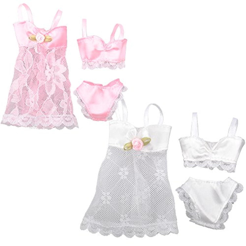 (ムイ) MUYI ドール 人形 フィギュア用 パジャマ 下着 ランジェリー ピンク ホワイト