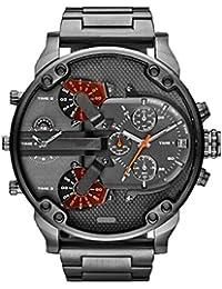 スポーツ腕時計 Yumiki ステンレススチール マルチダイヤルウォッチ 多機能 クオーツ  メンズ時計