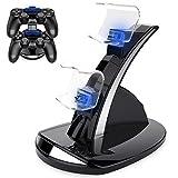 PS4 コントローラー 充電器 Dinofire DUALSHOCK4 充電 PS4 コントローラー 充電 スタンド LED 指示ランプ付き