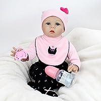 kaydora 22インチLifelike人形RebornベビールーシーガールギフトHuggableソフトボディおもちゃ