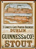 Guinness Dublin Brewery  ギネスダブリン醸造所の金属はがき/ミニ看板    (hi pcard)