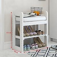 木製靴ラックベンチシングルレイヤーホルダーオーガナイザー快適なシートストレージシェルフ廊下居間用多機能シェルフ(50/70 * 30×60cm) (色 : B, サイズ さいず : 50 * 30 * 60CM)