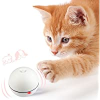 AiQInu 猫 おもちゃ 自動 ボール 猫 遊び道具 電動 LEDライト 6ボタン電池付き 自動回転 猫ボール ストレス解消/運動不足 ねこ遊び道具 ダィエット/知能トレーニング おもちゃ猫